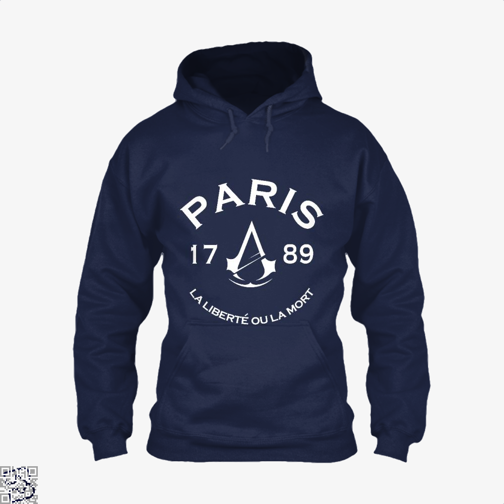 Paris Assassins Creed Hoodie - Blue / X-Small - Productgenjpg