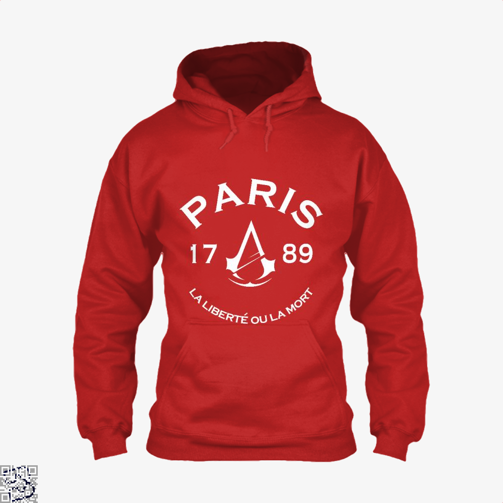 Paris Assassins Creed Hoodie - Red / X-Small - Productgenjpg