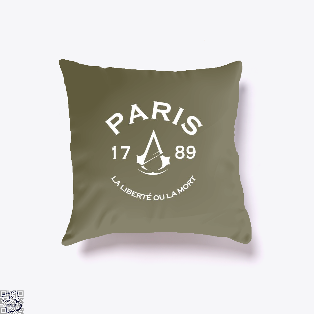Paris Assassins Creed Throw Pillow Cover - Brown / 16 X - Productgenjpg