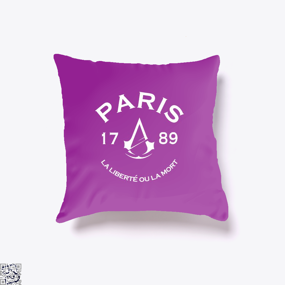 Paris Assassins Creed Throw Pillow Cover - Purple / 16 X - Productgenjpg