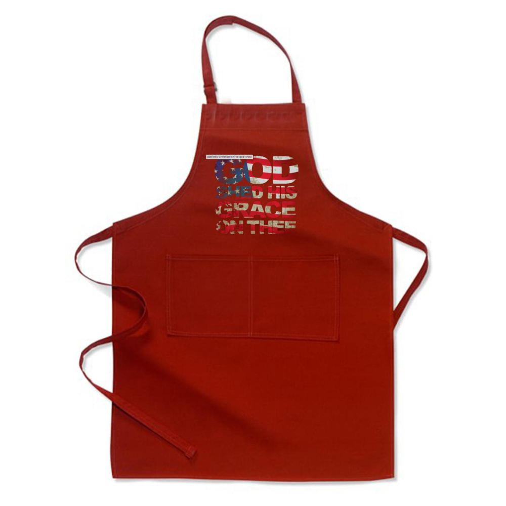 Patriotic Shirt God Shed His Grace On Thee Highbrow Apron - Productgenjpg