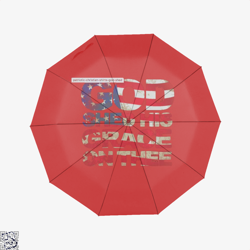 Patriotic Shirt God Shed His Grace On Thee Highbrow Umbrella - Red - Productgenjpg