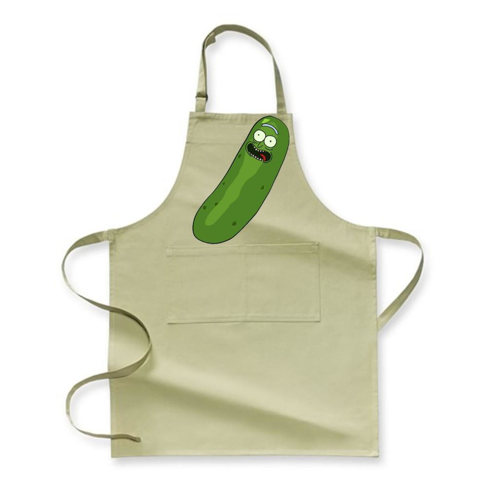 Pickle Rick And Morty Apron - Green / Polyster - Productgenjpg
