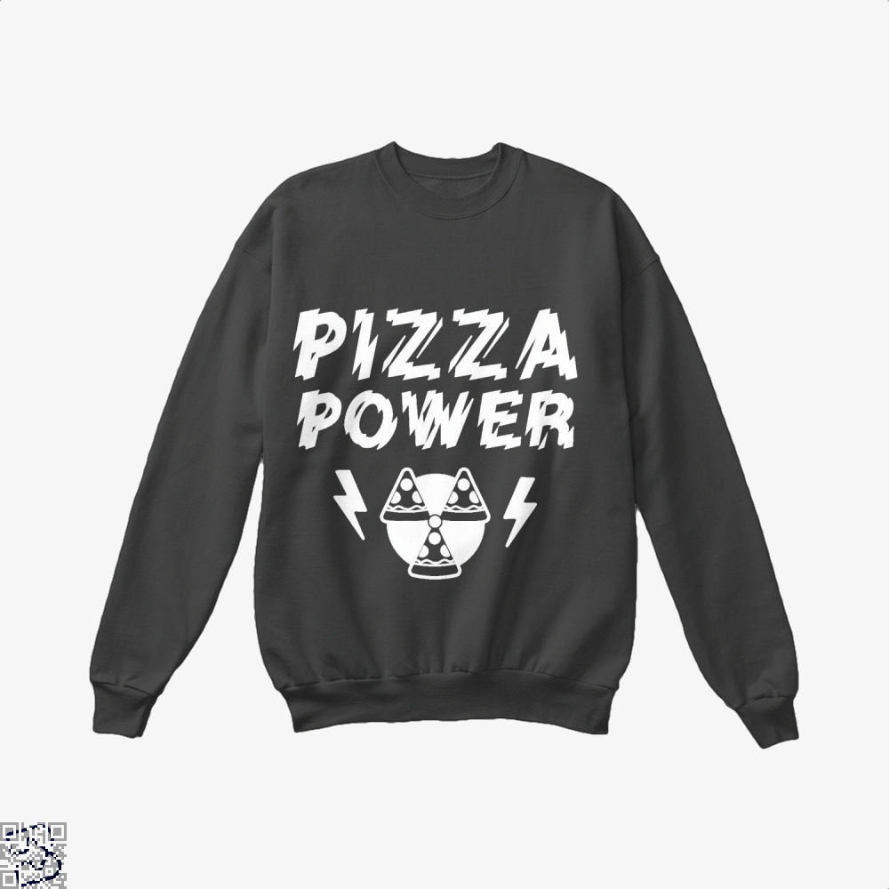 Pizza Nuclear Power Crew Neck Sweatshirt - Black / X-Small - Productgenapi