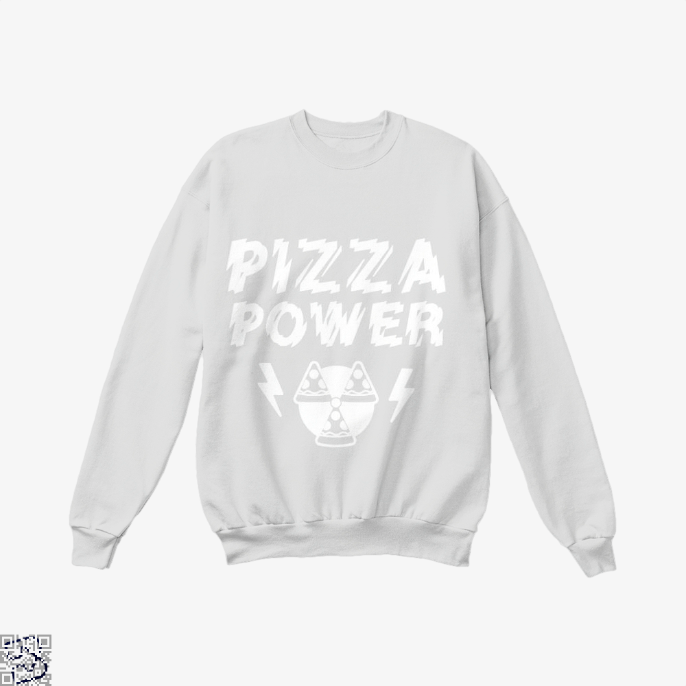 Pizza Nuclear Power Crew Neck Sweatshirt - White / X-Small - Productgenapi