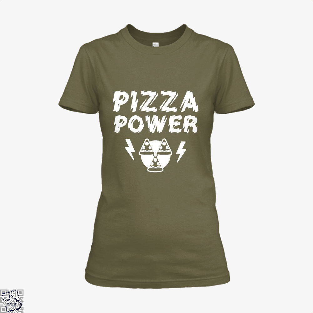 Pizza Nuclear Power Shirt - Women / Brown / X-Small - Productgenapi