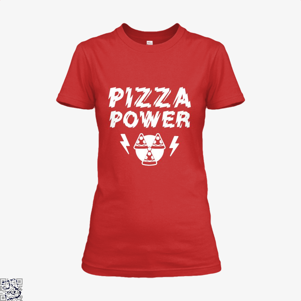 Pizza Nuclear Power Shirt - Women / Red / X-Small - Productgenapi