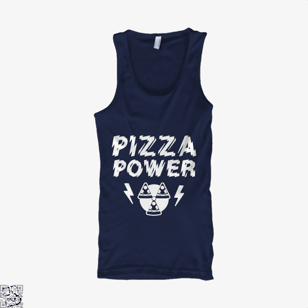 Pizza Nuclear Power Tank Top - Women / Blue / Small - Productgenapi