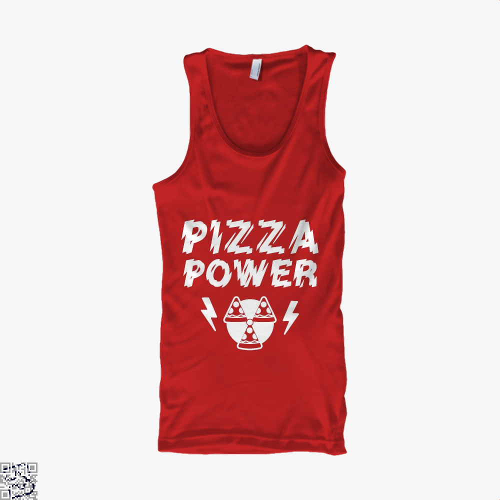 Pizza Nuclear Power Tank Top - Women / Red / Small - Productgenapi
