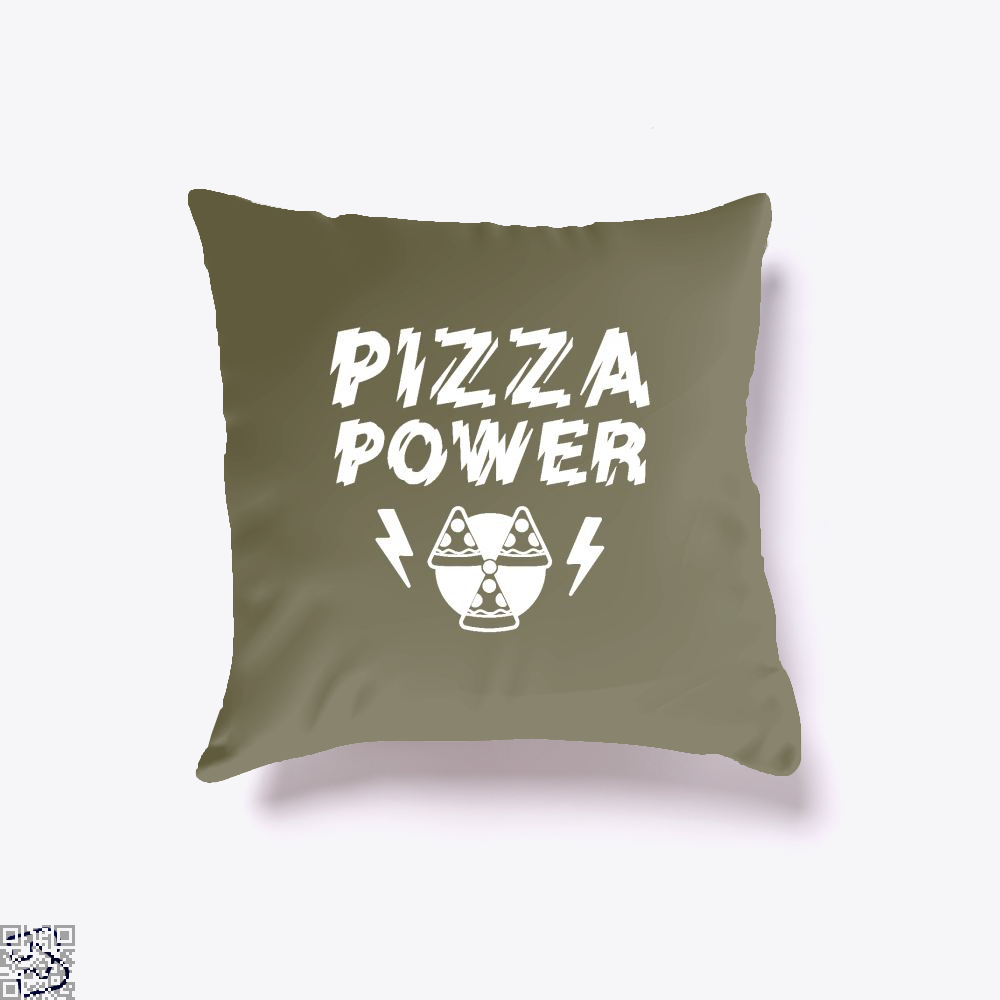 Pizza Nuclear Power Throw Pillow Cover - Brown / 16 X - Productgenapi