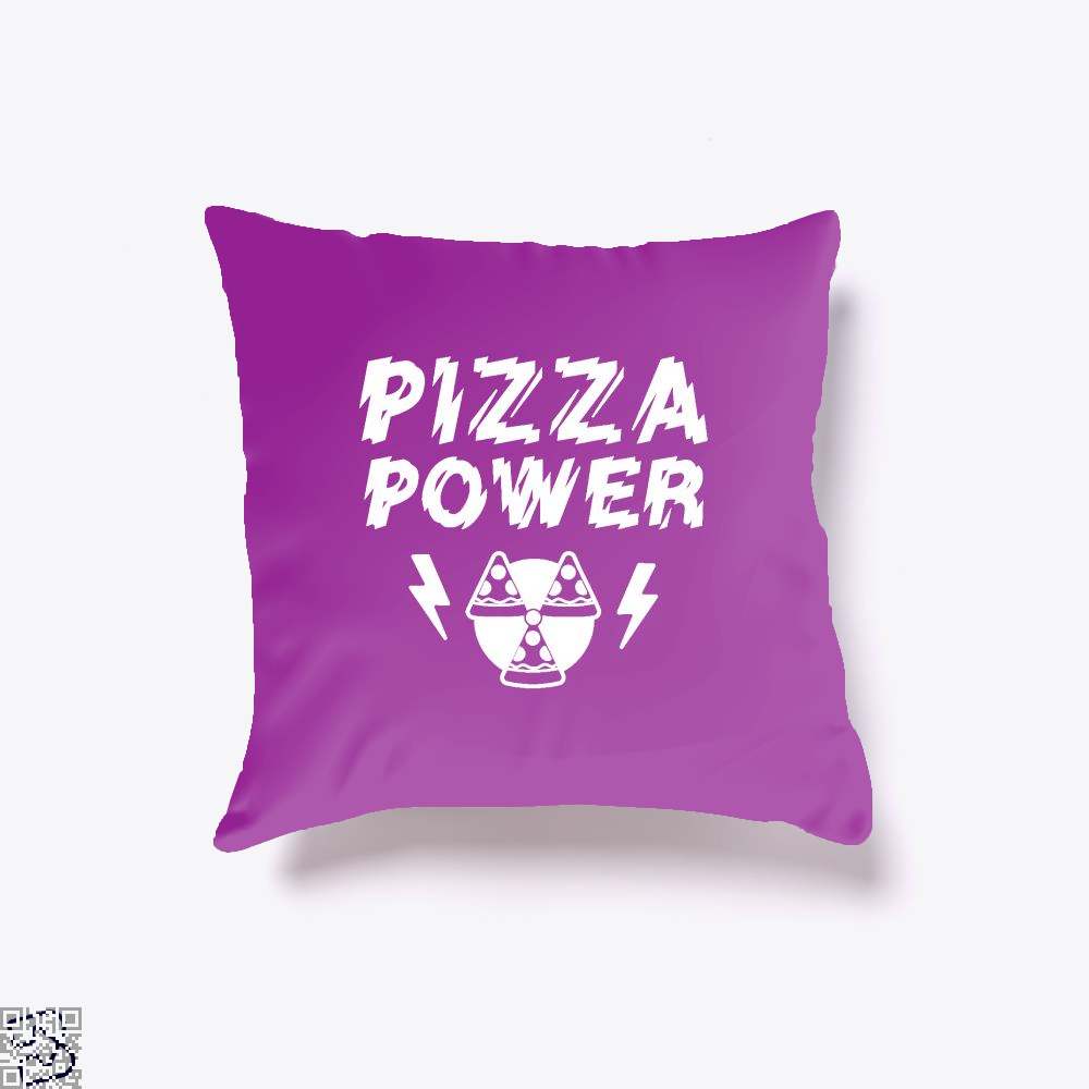 Pizza Nuclear Power Throw Pillow Cover - Purple / 16 X - Productgenapi