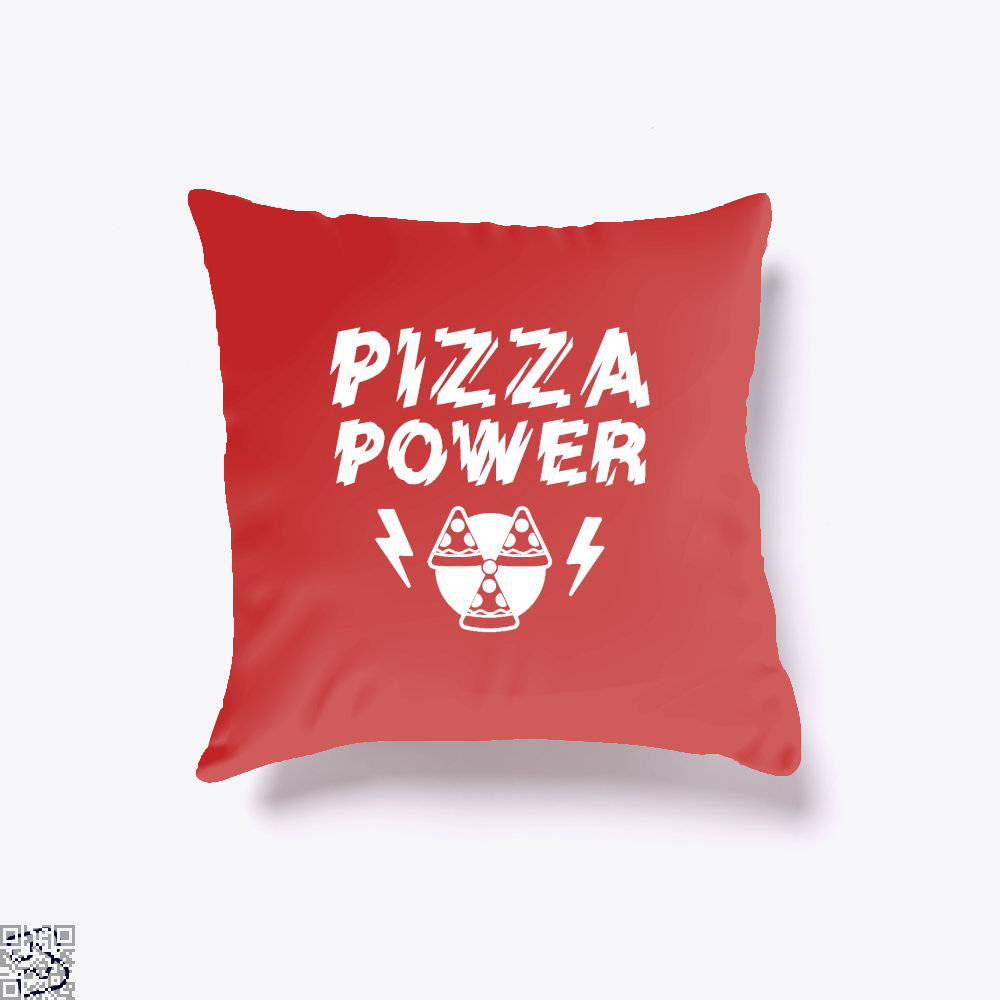 Pizza Nuclear Power Throw Pillow Cover - Red / 16 X - Productgenapi