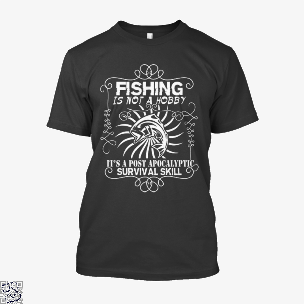 Post Apocalyptic Fishing Shirt - Men / Black / X-Small - Productgenjpg