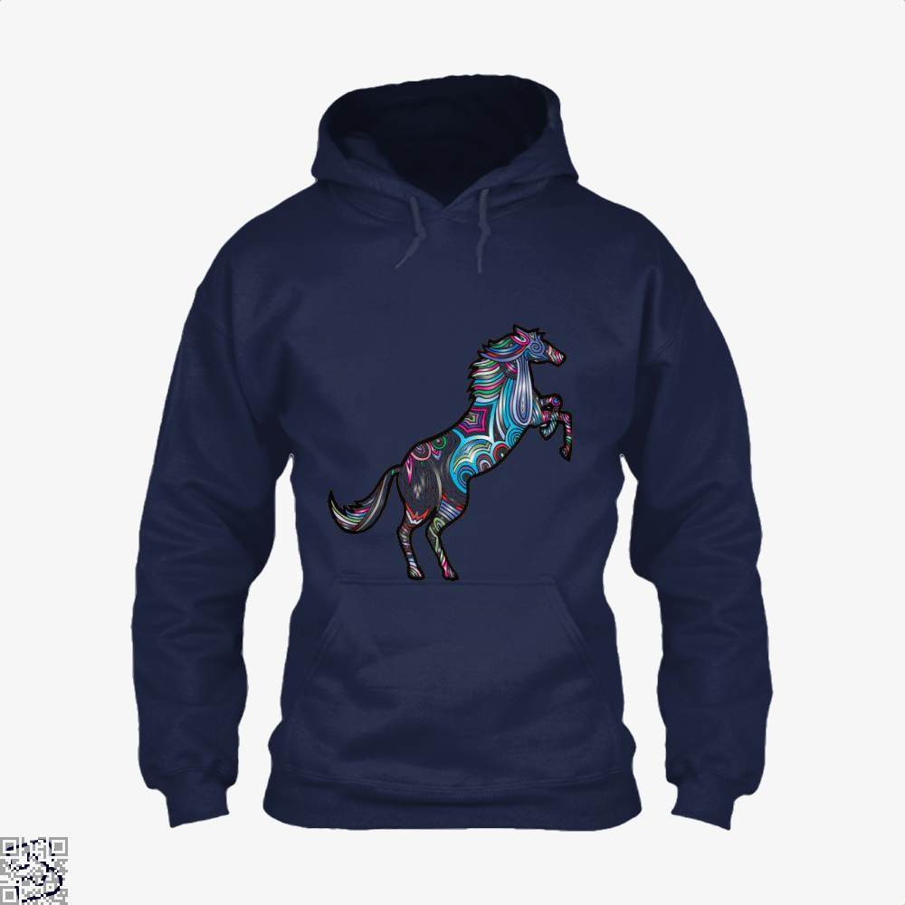 Prismatic Horse Hoodie - Blue / X-Small - Productgenjpg