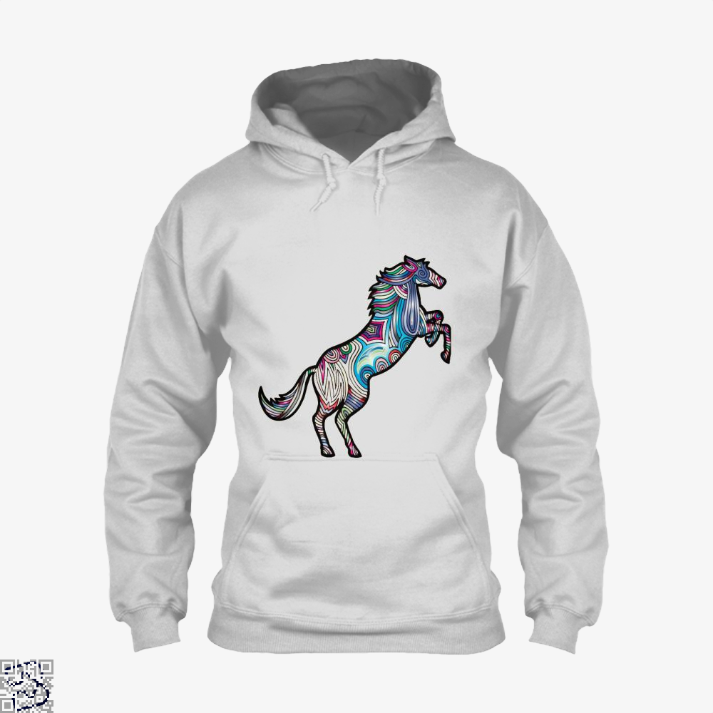 Prismatic Horse Hoodie - White / X-Small - Productgenjpg