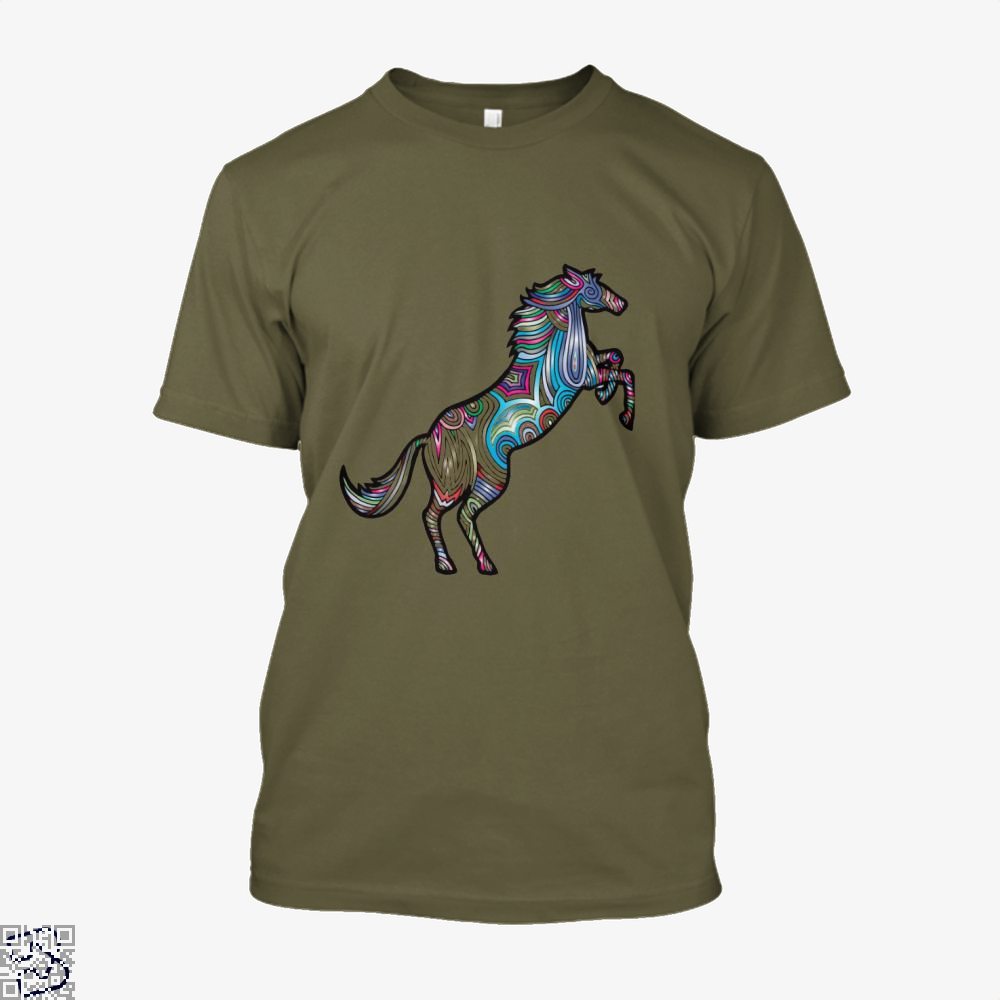 Prismatic Horse Shirt - Men / Brown / X-Small - Productgenjpg
