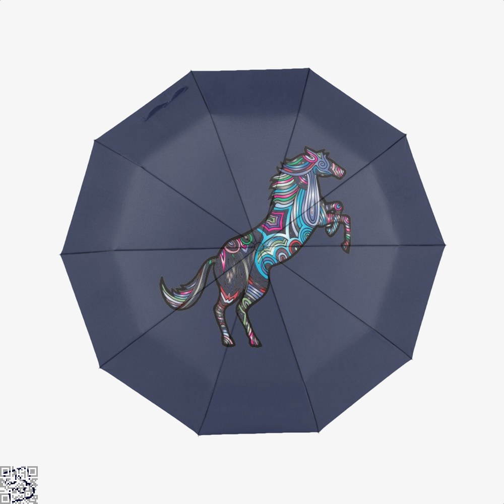 Prismatic Horse Umbrella - Blue - Productgenjpg