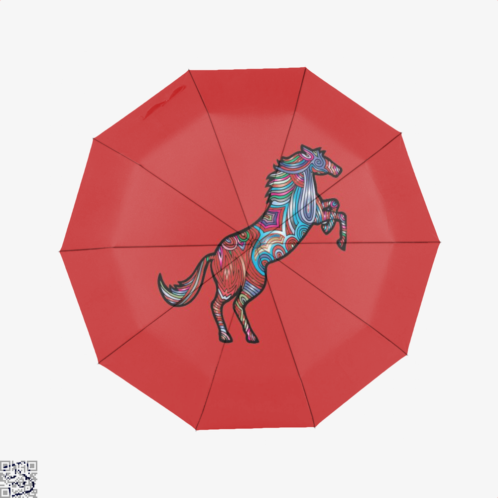 Prismatic Horse Umbrella - Red - Productgenjpg