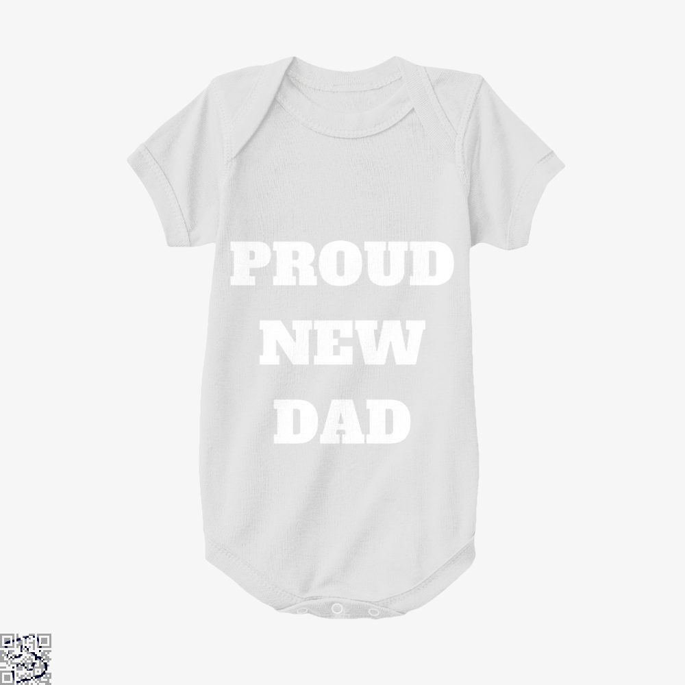 Proud Dad Rocks Fathers Day Baby Onesie - White / 0-3 Months - Productgenapi