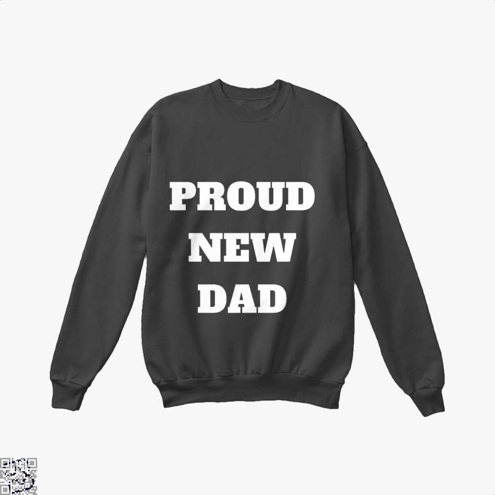 Proud Dad Rocks Fathers Day Crew Neck Sweatshirt - Black / X-Small - Productgenapi