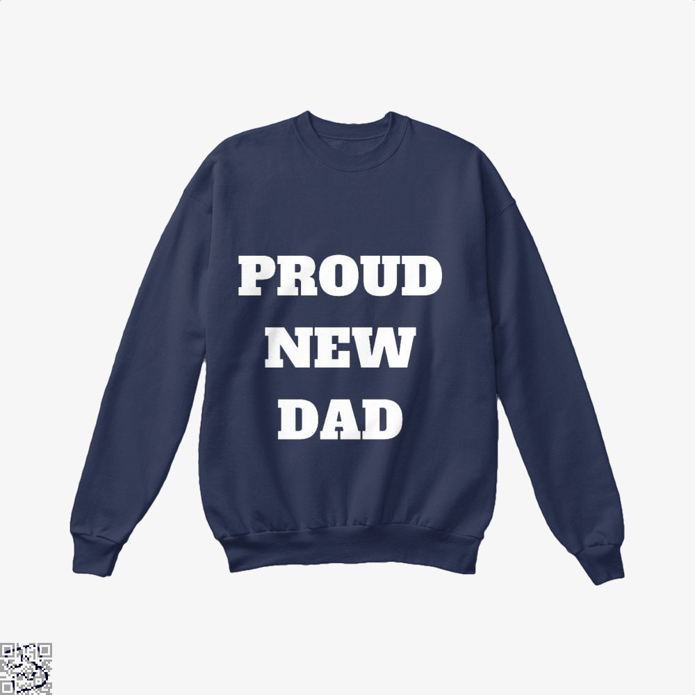 Proud Dad Rocks Fathers Day Crew Neck Sweatshirt - Blue / X-Small - Productgenapi