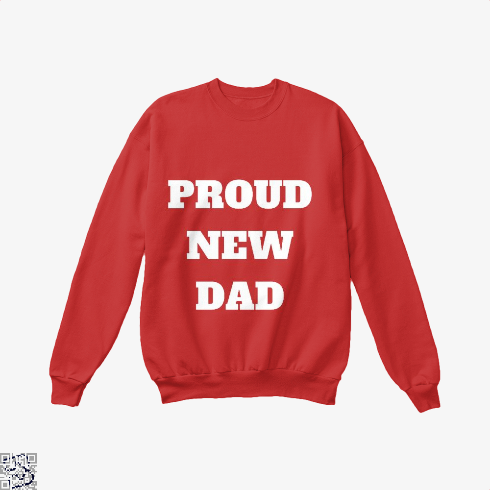 Proud Dad Rocks Fathers Day Crew Neck Sweatshirt - Red / X-Small - Productgenapi