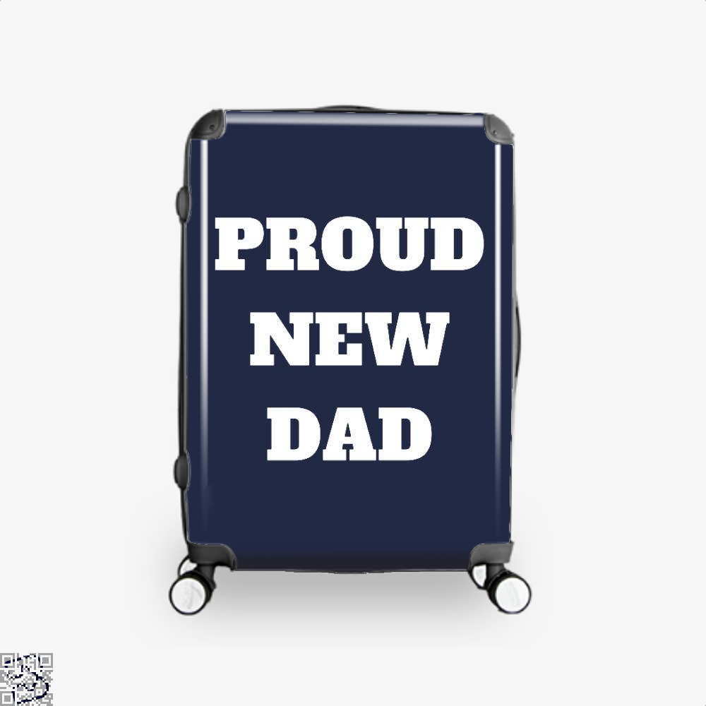 Proud Dad Rocks Fathers Day Suitcase - Blue / 16 - Productgenapi