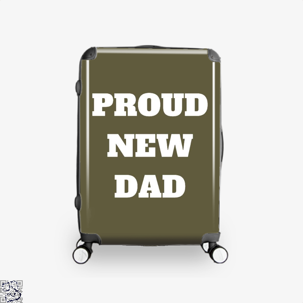 Proud Dad Rocks Fathers Day Suitcase - Brown / 16 - Productgenapi