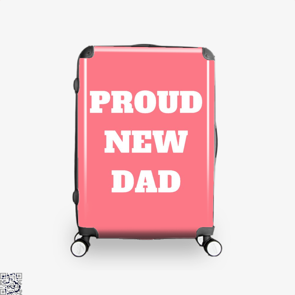 Proud Dad Rocks Fathers Day Suitcase - Pink / 16 - Productgenapi