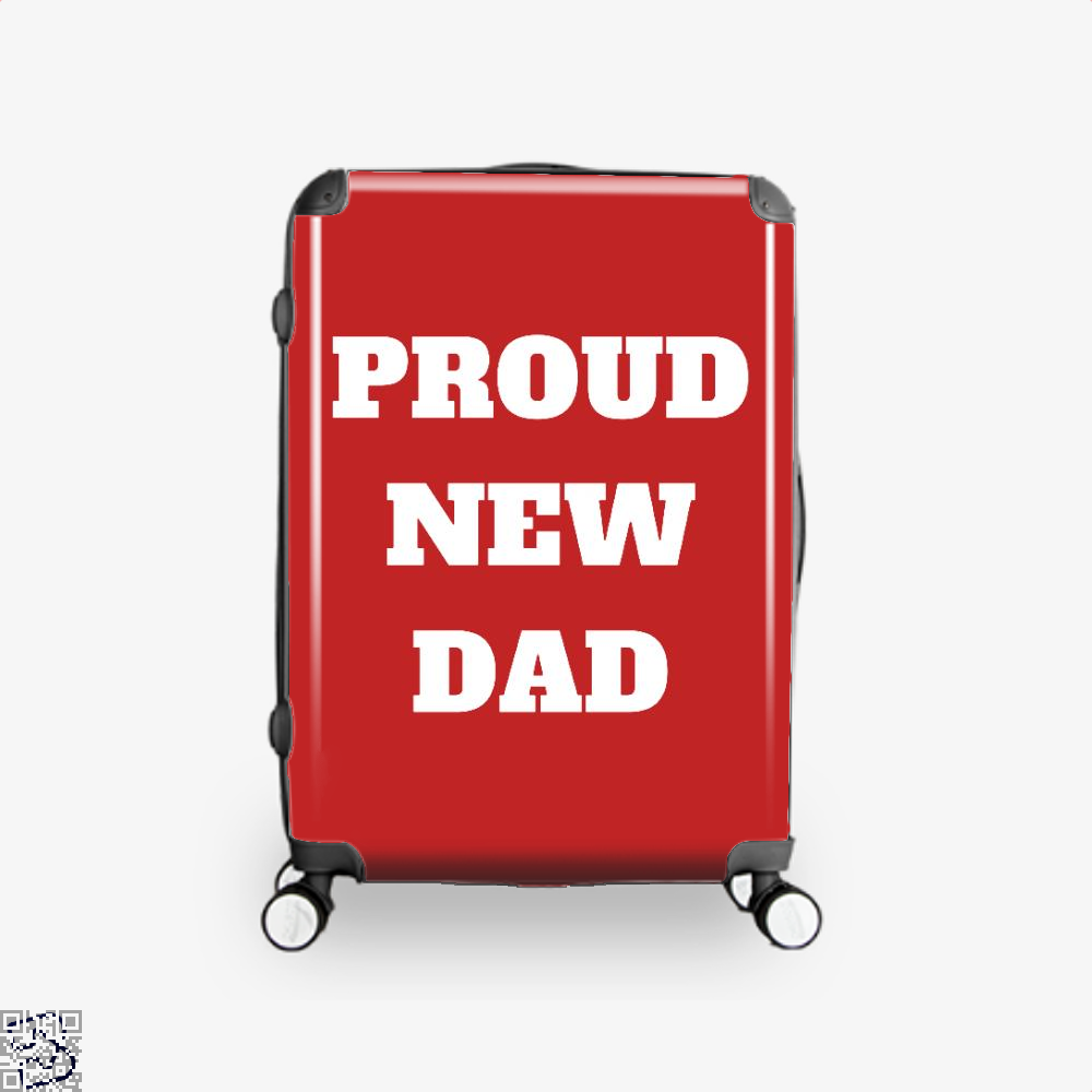 Proud Dad Rocks Fathers Day Suitcase - Red / 16 - Productgenapi