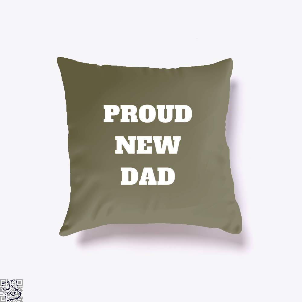 Proud Dad Rocks Fathers Day Throw Pillow Cover - Brown / 16 X - Productgenapi