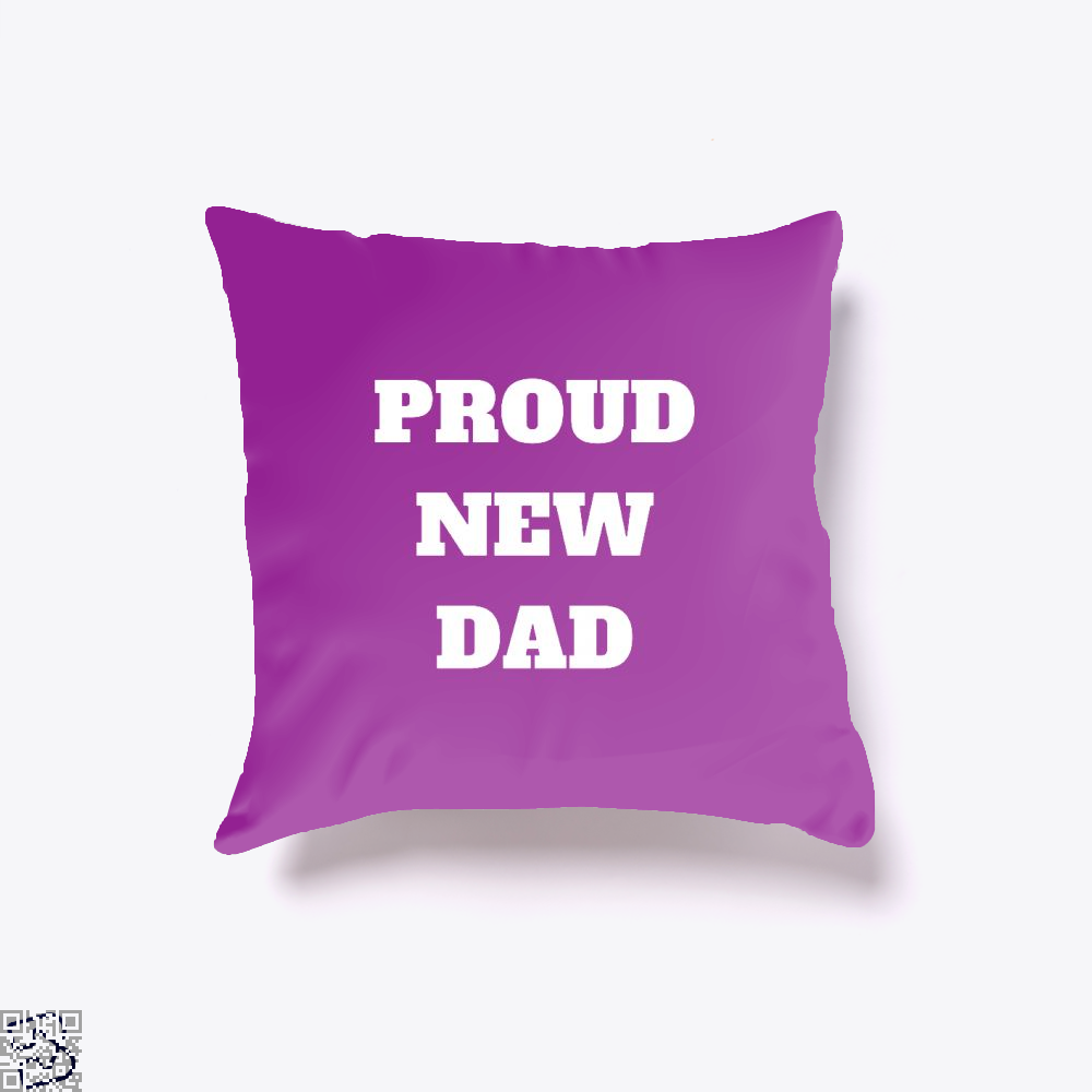 Proud Dad Rocks Fathers Day Throw Pillow Cover - Purple / 16 X - Productgenapi