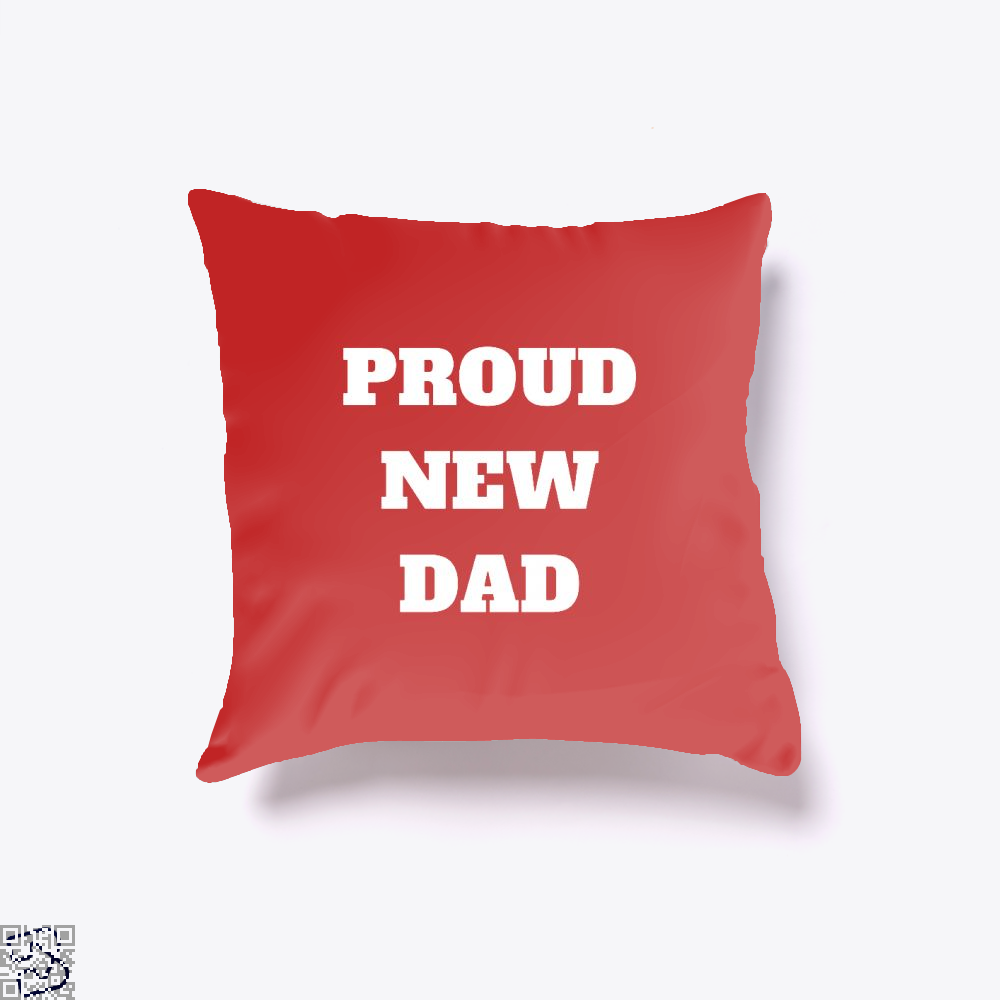 Proud Dad Rocks Fathers Day Throw Pillow Cover - Red / 16 X - Productgenapi