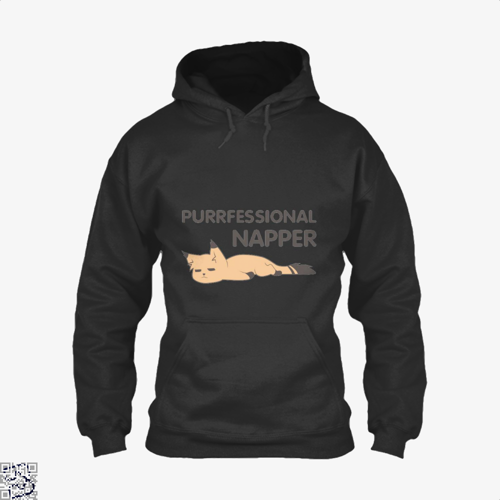 Purrfessional Napper Cat Hoodie - Black / X-Small - Productgenjpg