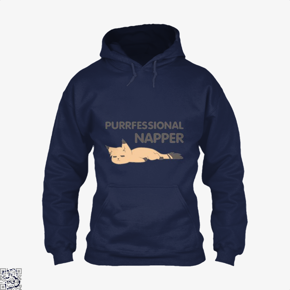 Purrfessional Napper Cat Hoodie - Blue / X-Small - Productgenjpg