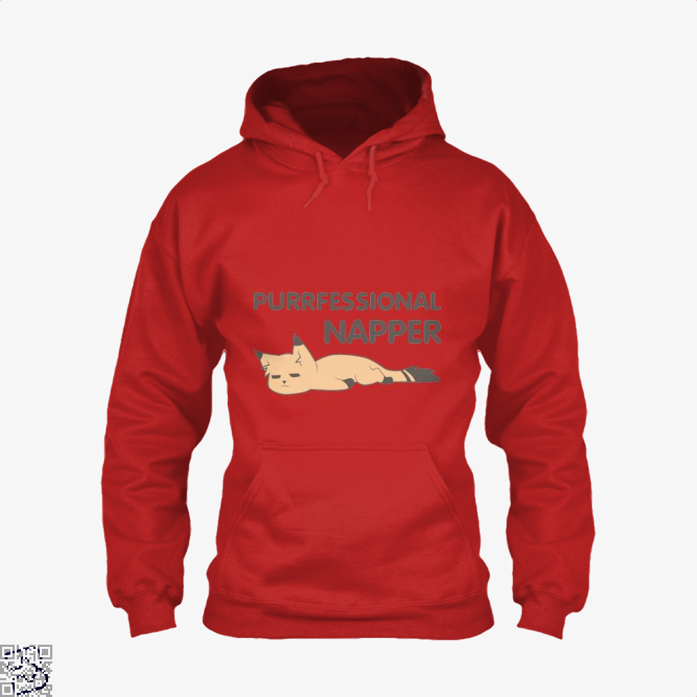 Purrfessional Napper Cat Hoodie - Red / X-Small - Productgenjpg