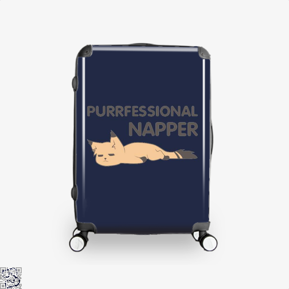 Purrfessional Napper Cat Suitcase - Blue / 16 - Productgenjpg