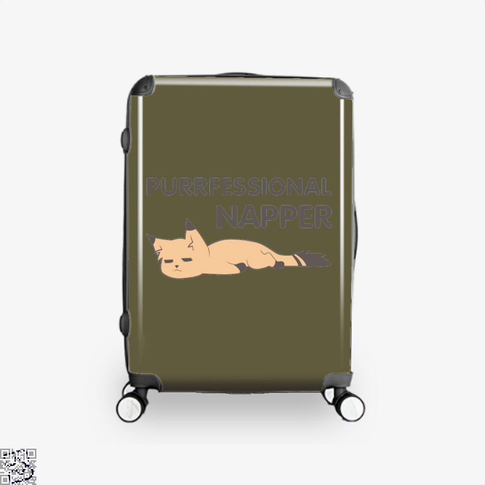 Purrfessional Napper Cat Suitcase - Brown / 16 - Productgenjpg