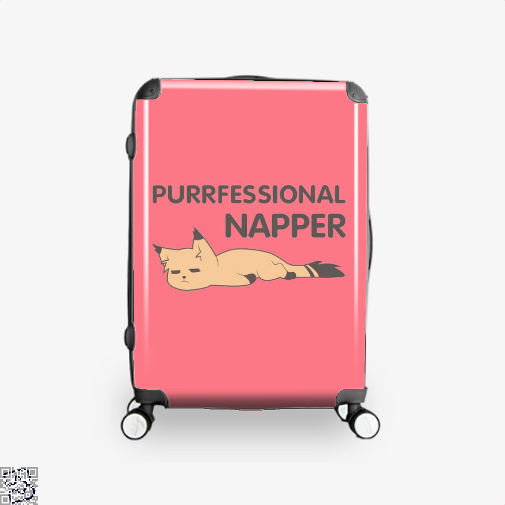 Purrfessional Napper Cat Suitcase - Pink / 16 - Productgenjpg