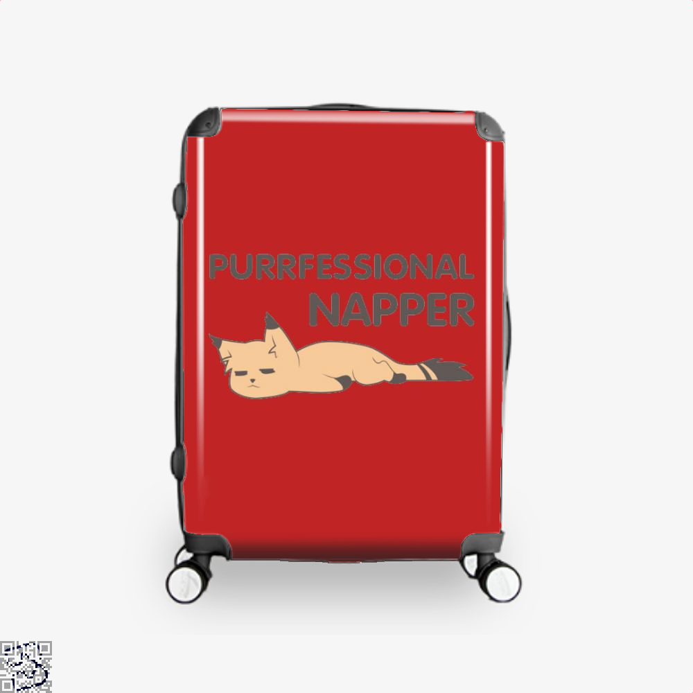 Purrfessional Napper Cat Suitcase - Red / 16 - Productgenjpg