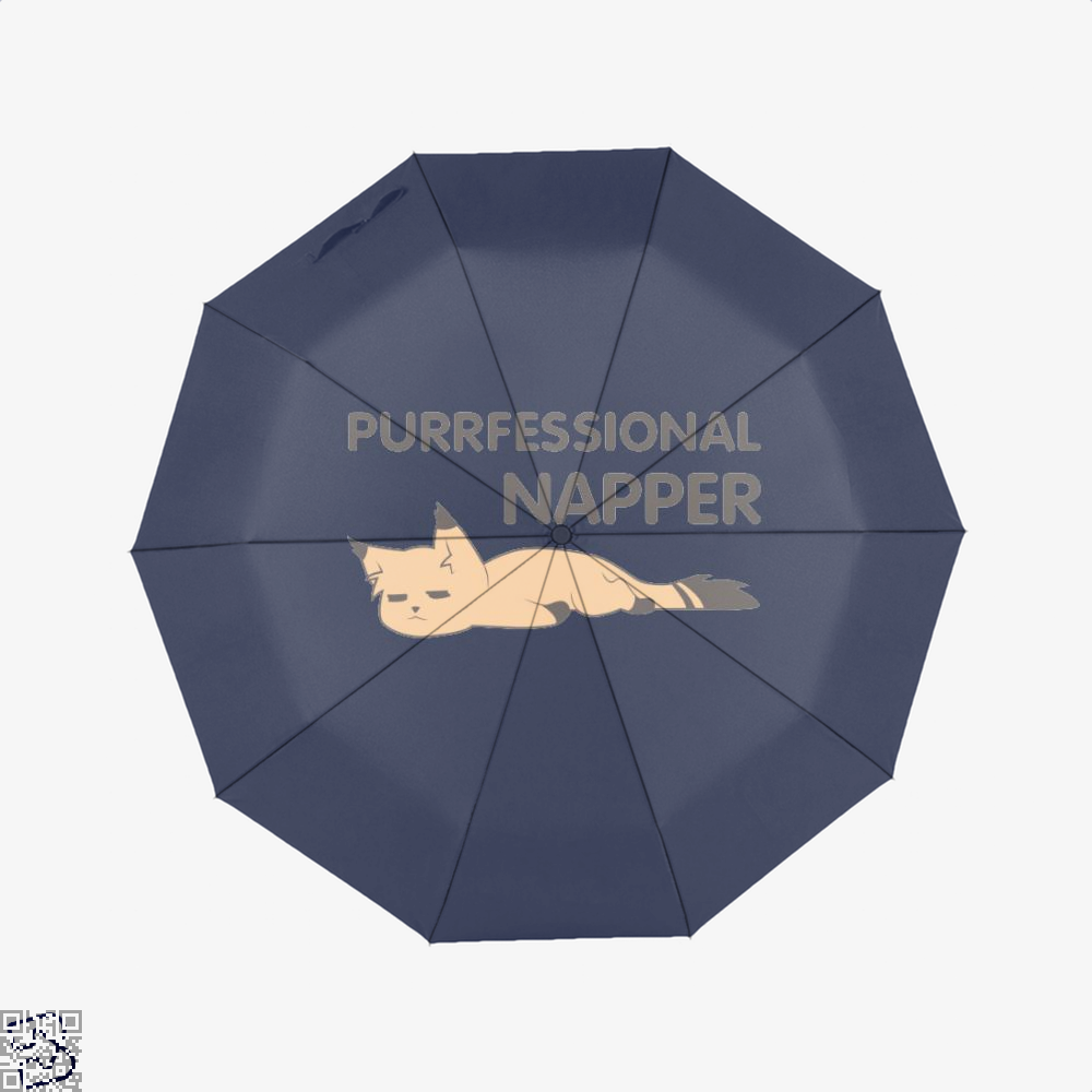 Purrfessional Napper Cat Umbrella - Blue - Productgenjpg