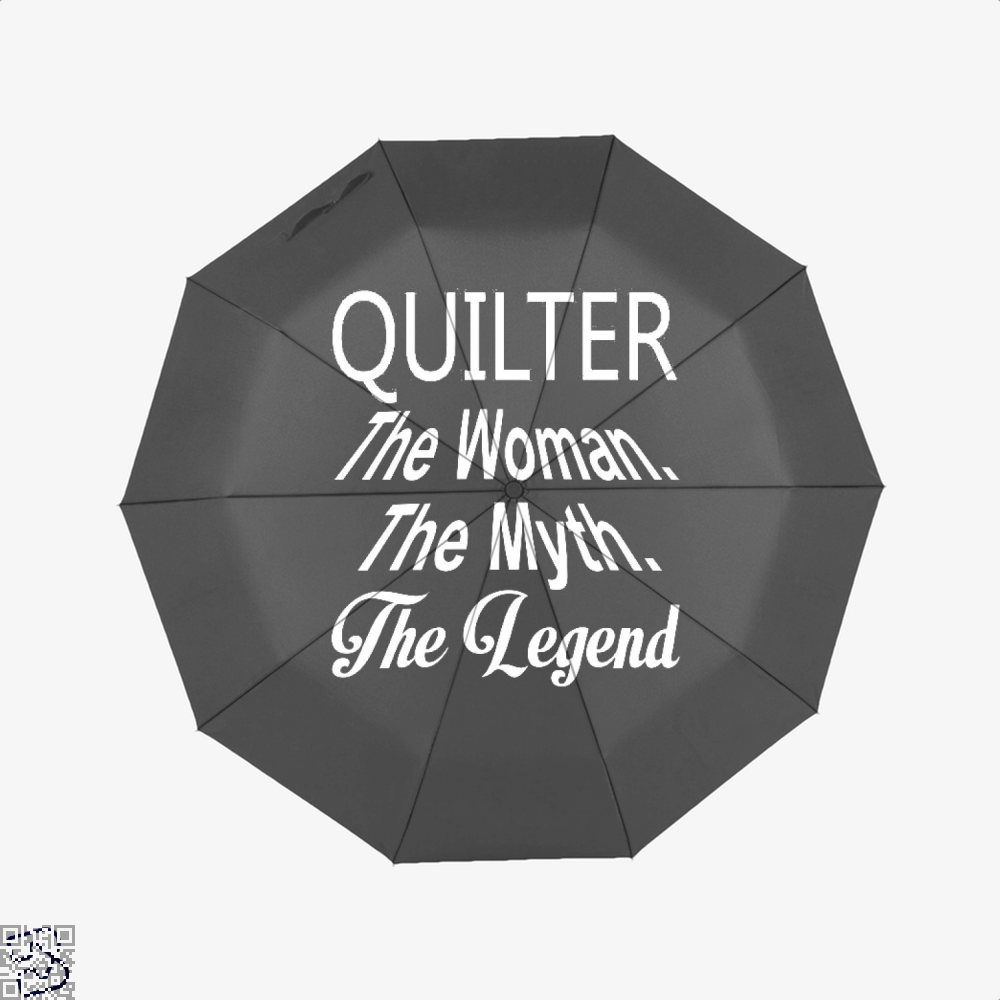 Quilter The Woman Myth Legend Sewing Umbrella - Black - Productgenjpg