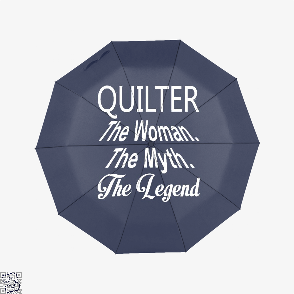 Quilter The Woman Myth Legend Sewing Umbrella - Blue - Productgenjpg