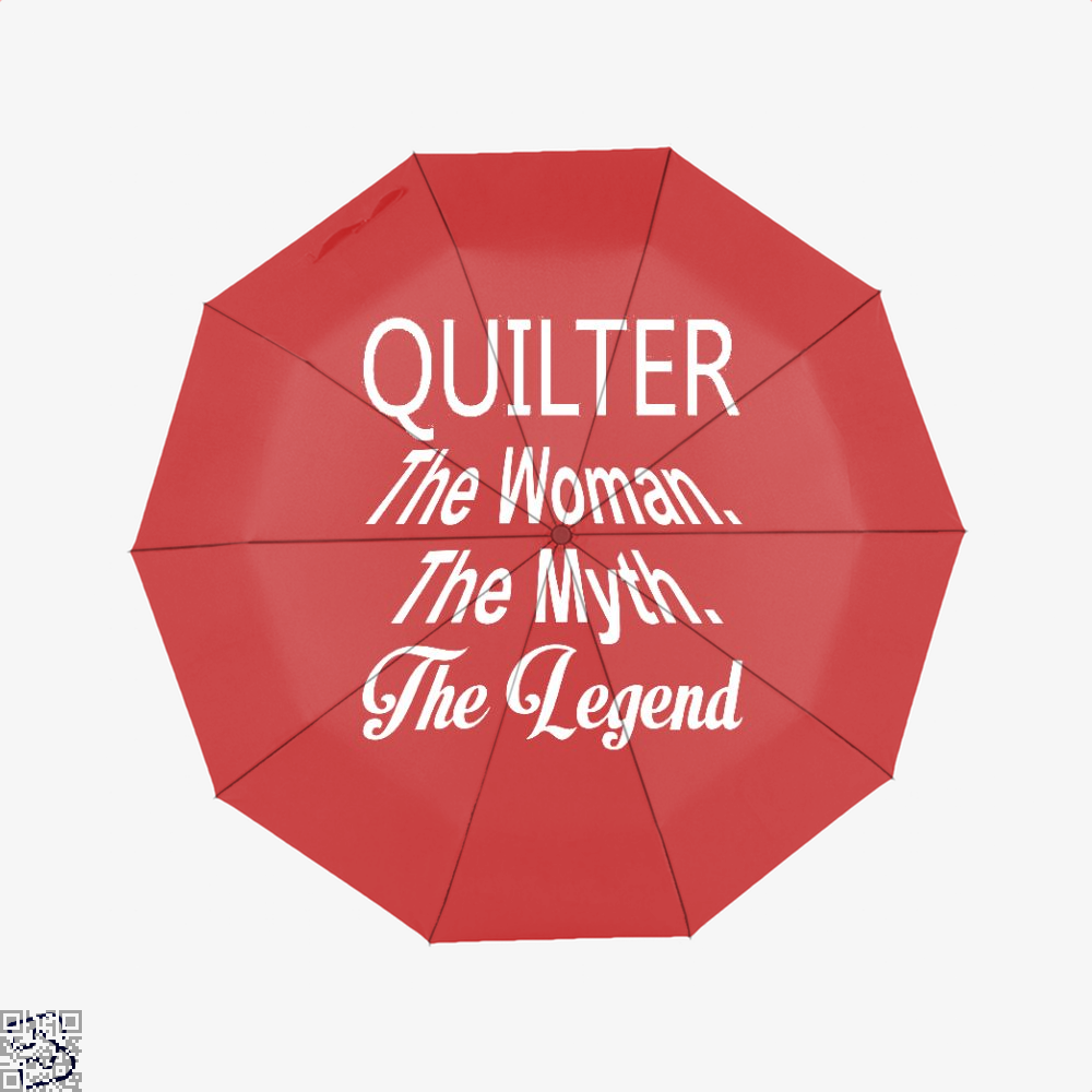 Quilter The Woman Myth Legend Sewing Umbrella - Red - Productgenjpg
