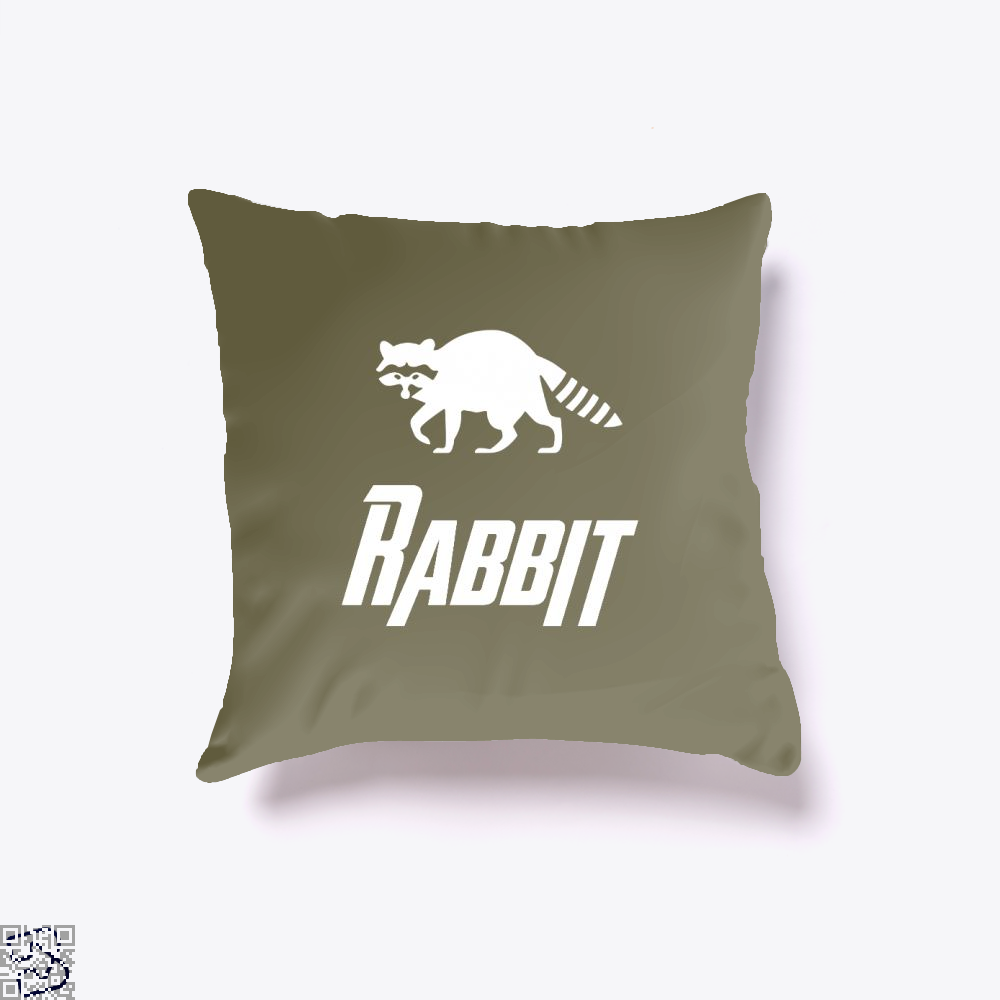 Rabbit Avengers Infinity War Throw Pillow Cover - Brown / 16 X - Productgenapi