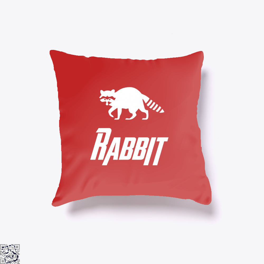 Rabbit Avengers Infinity War Throw Pillow Cover - Red / 16 X - Productgenapi