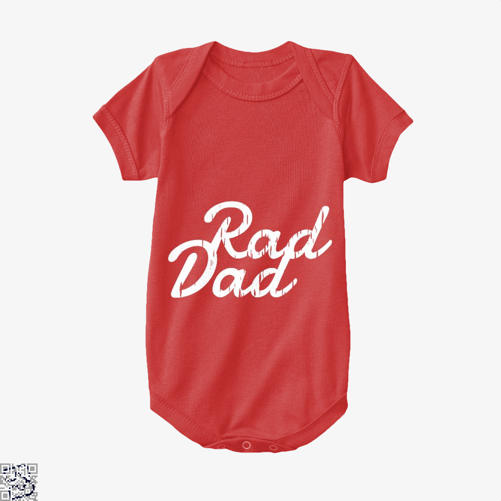 Rad Dad Fathers Day Baby Onesie - Red / 0-3 Months - Productgenapi