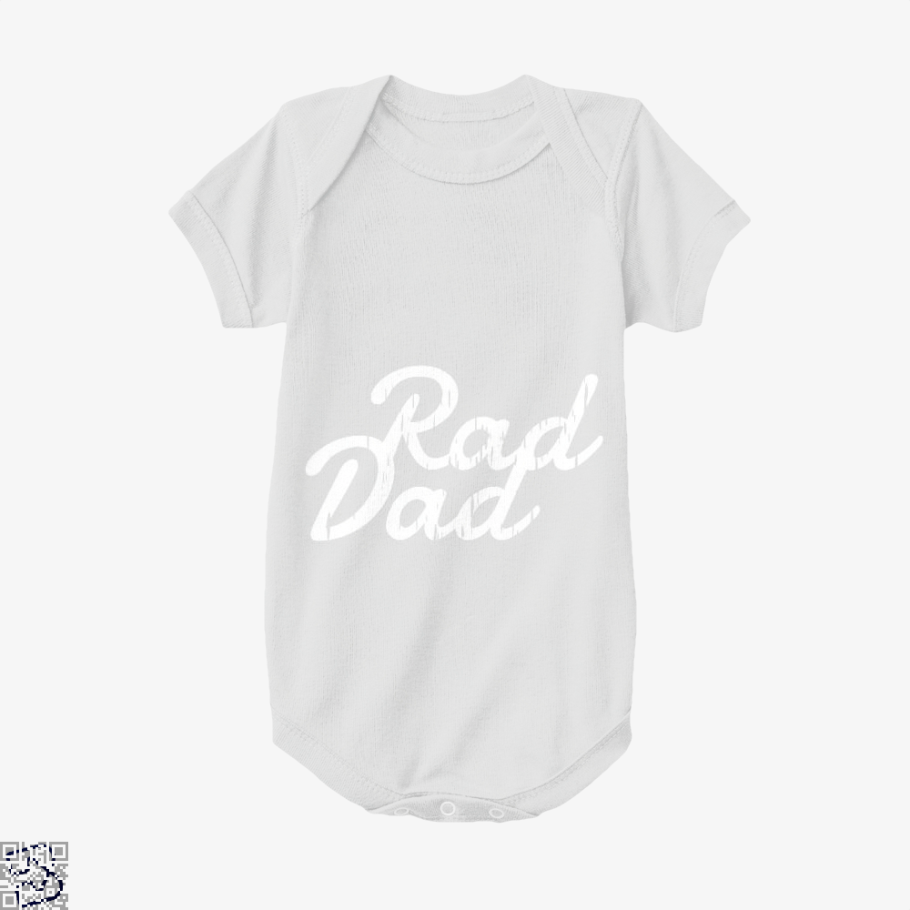 Rad Dad Fathers Day Baby Onesie - White / 0-3 Months - Productgenapi