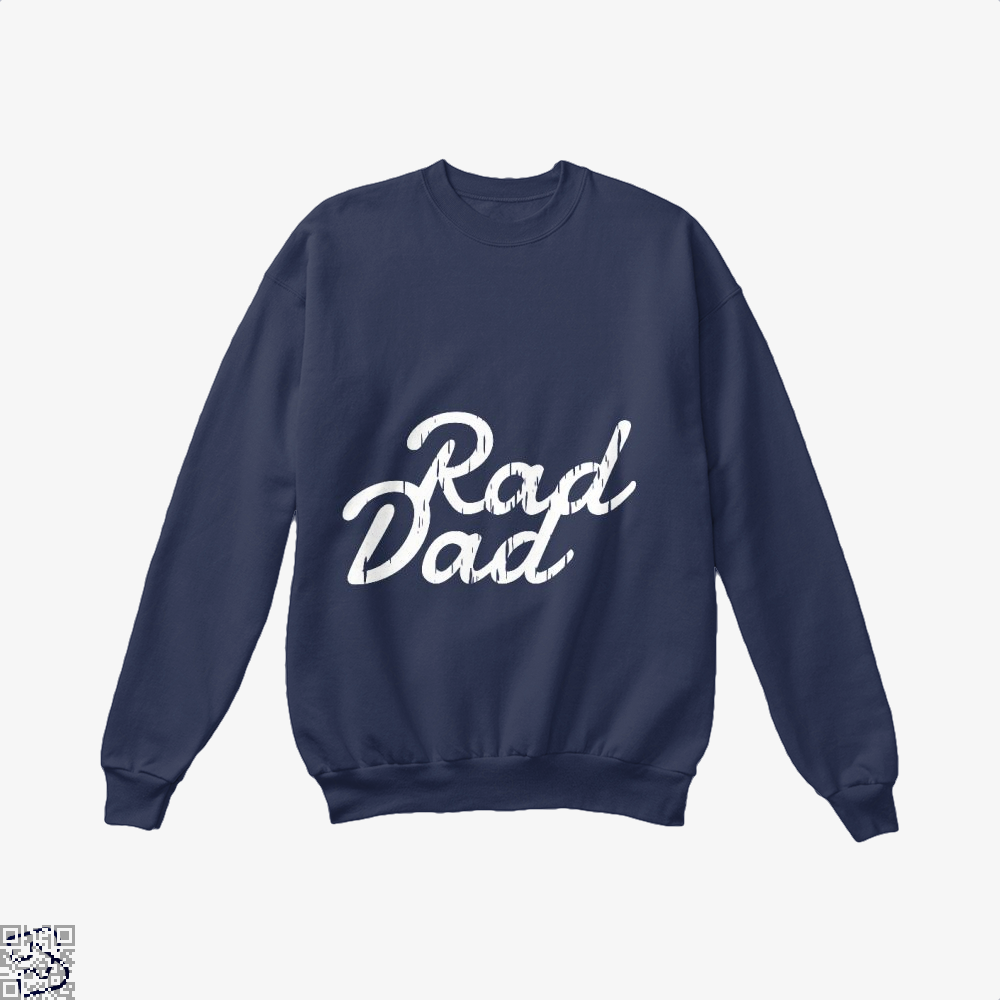 Rad Dad Fathers Day Crew Neck Sweatshirt - Blue / X-Small - Productgenapi