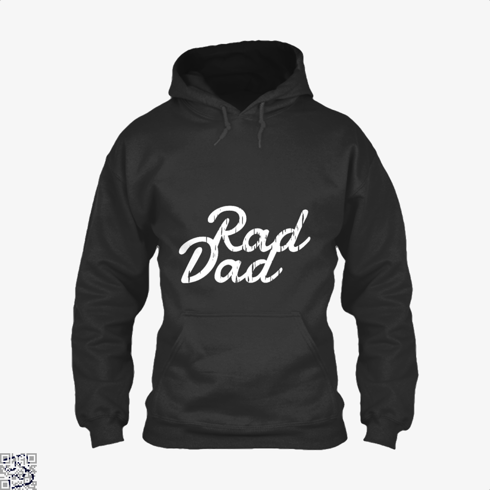 Rad Dad Fathers Day Hoodie - Black / X-Small - Productgenapi